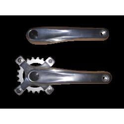 pedalier vtt aluminium manivelles 170 mm triple axe carré