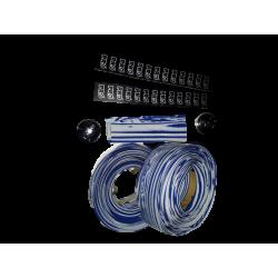 Handlebar tape blue & white PRO for road bike