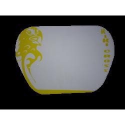 BMX race plate white
