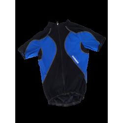 maillot cycliste bleu shimano accu 3D premium taille L