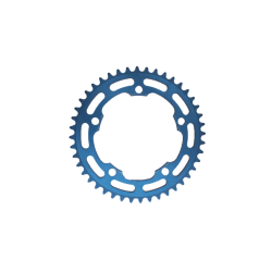 Chainring 44 teeth 122 mm blue anodised