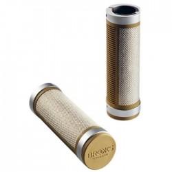 poignées vélo brooks england cambium comfort lock-on 130 mm beige