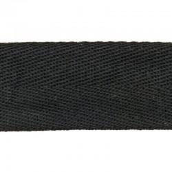 Ruban de guidon BRN en coton noire vintage