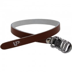 Courroies VP-715 395 mm en cuir marron