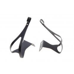 Toe clips set MKS aluminium size L