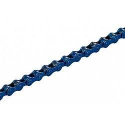 "chaine fixie KMC Z410 1/2"" x 1/8"" 108 maillons bleue monovitesse"