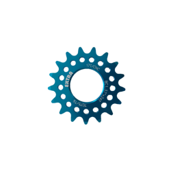 "Single speed sprocket Extra+ 17 teeth BC 1.37""x24T blue"