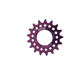 "Single speed sprocket Extra+ 17 teeth BC 1.37""x24T purple"