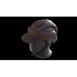 casque velo vintage ebon marron avec visiere