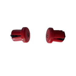 Road handlebar screwed plugs red flat