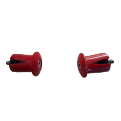 Road handlebar screwed plugs red curved