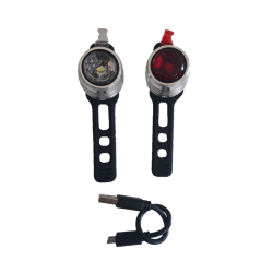 Bike led light rechargeable front & rear Kryptonite Boulevard F-14 & R-3