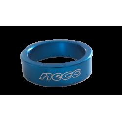 "Entretoise velo NECO aluminium jeu de direction 1""1/8 10 mm bleu"