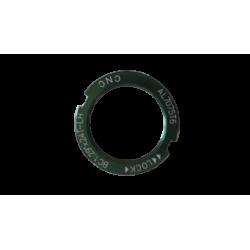 """Contre écrou pignon fixe BC1.29""""x24T CNC alu vert"""