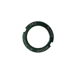 """Counter nut for fix sprocket BC1.29""""x24T CNC alu green"""