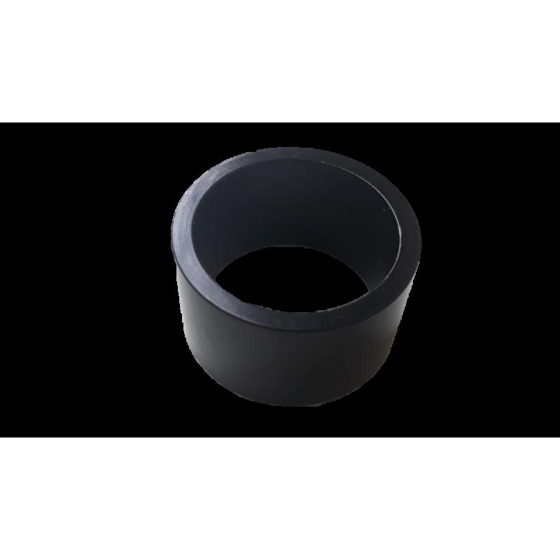 """Entretoise velo aluminium jeu de direction 1""""1/8 20 mm noire"""