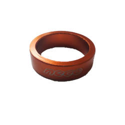 "NECO headset spacer aluminium orange 1""1/8 10 mm"