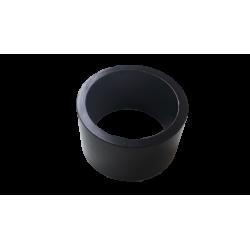 """Entretoise velo aluminium jeu de direction 1""""1/8 15 mm noire"""