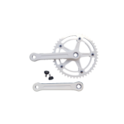 Extra+ Deluxe single speed crankset 165 mm 46 teeth white