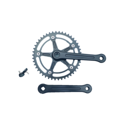 Extra+ Deluxe single speed crankset 165 mm 46 teeth black