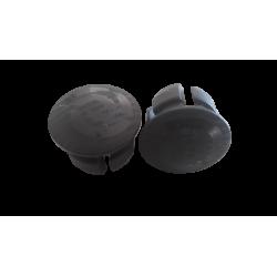 Bouchons de cintre route noir bombé