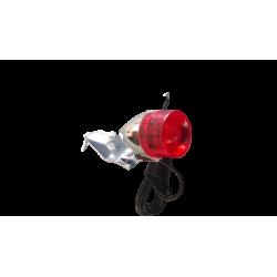 Eclairage vélo dynamo, lampe arrière à ampoule