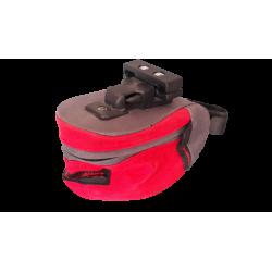 equipement velo sacoche de selle rouge