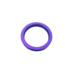 Cale jeu de direction vélo aluminium 5 mm violet