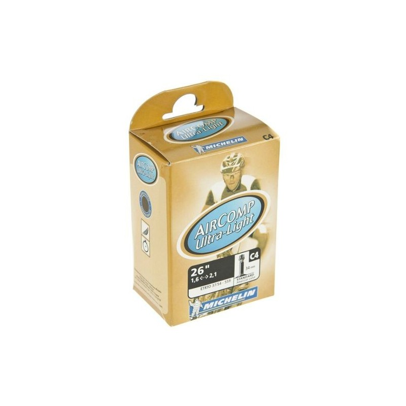 Chambre à air 26 pouces Michelin Air Comp Ultra Light 26x1.6 à 2.1 schrader