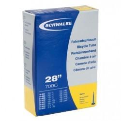 chambre air velo Schwalbe 700x18C/28C presta 60 mm
