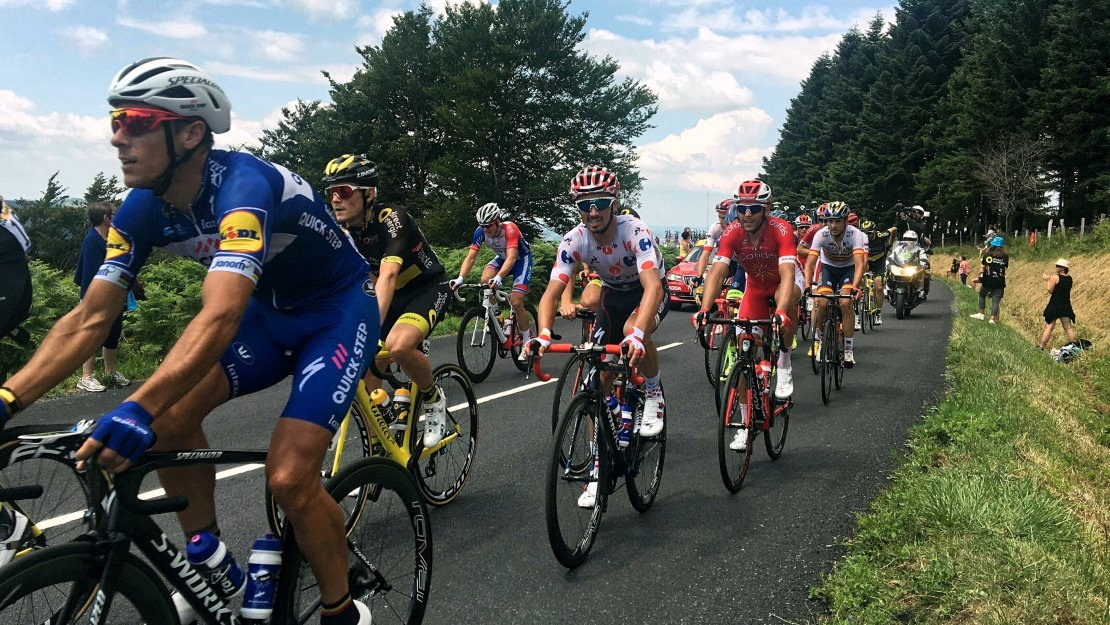 Julian Alaphilippe in the peloton